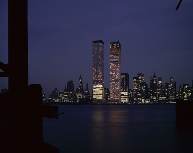[World Trade Center Skyline at Night, New York City]