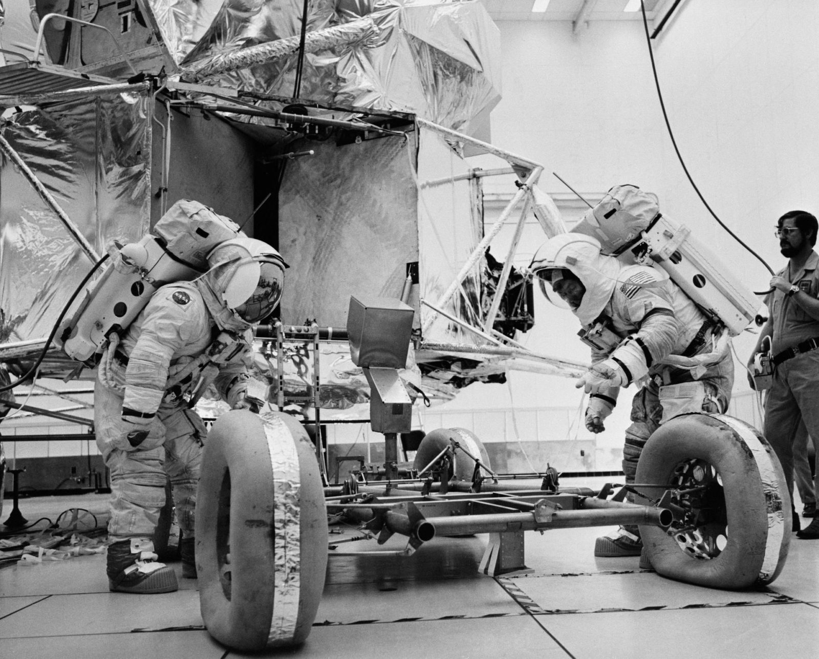 Apollo 17 Astronauts during EVA training