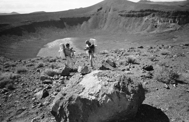 Apollo 17 Crewmembers - Rock Specimen Exam - Geological Field Trip - NV