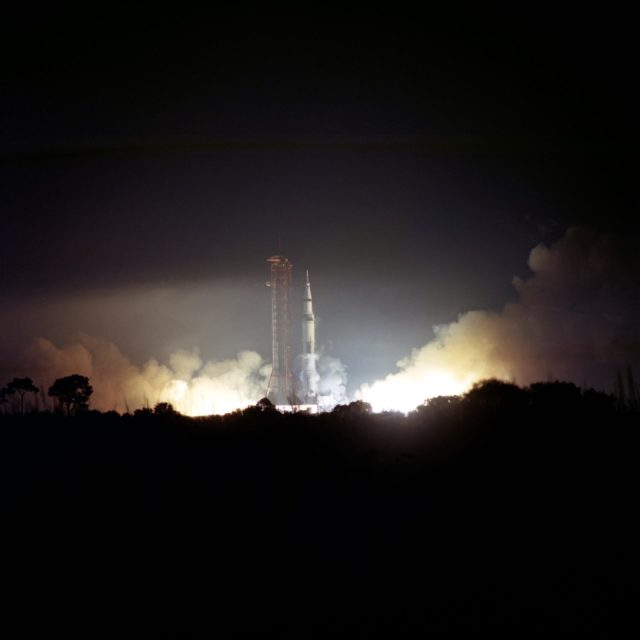 Launch of the Apollo 17 lunar landing mission