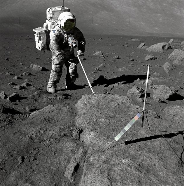 Schmitt Covered with Lunar Dirt