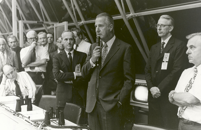 Spiro Agnew Congratulates Launch Control After Launch of Apollo 17