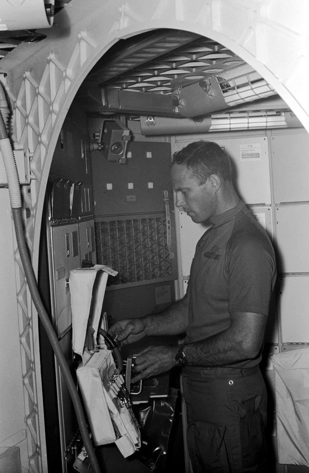 Astronaut Jack Lousma - Inflight Medical Support System (IMSS) - JSC