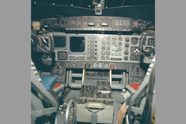 C-8A (NASA-716) Buffalo Augmetor Wing Jet STOL Aircraft cockpit - SERVO installations ARC-1973-AC73-5416-32