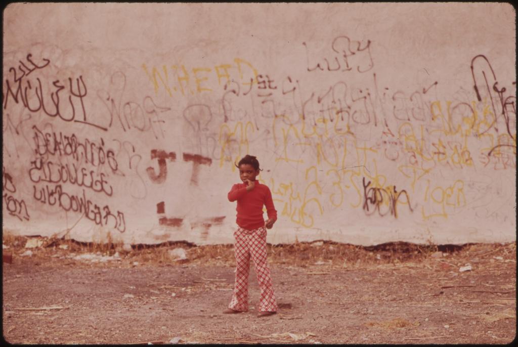 Boy In Back Alley In North Philadelphia, August 1973