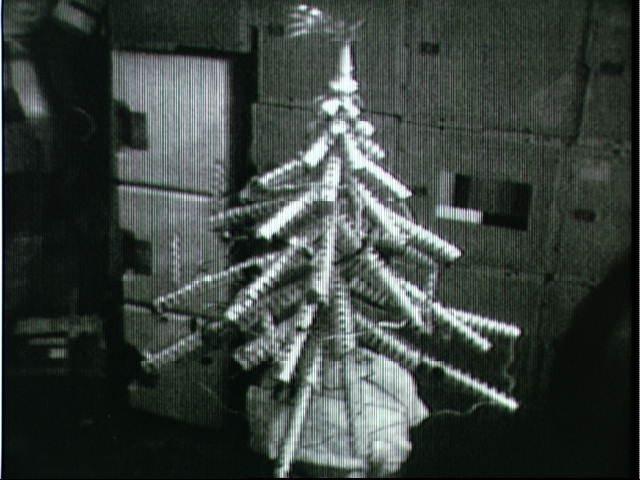 """Christmas tree"" created by Skylab 4 crewmembers"