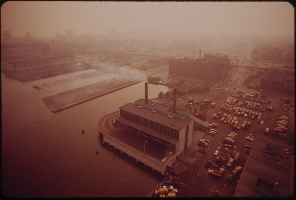 City Incinerator On The Delaware River, August 1973
