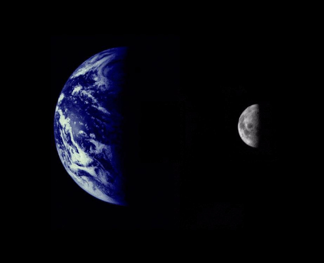 Earth and Moon as Viewed by Mariner 10