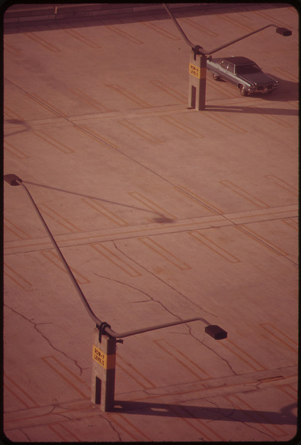Empty Parking Spaces at Logan Airport