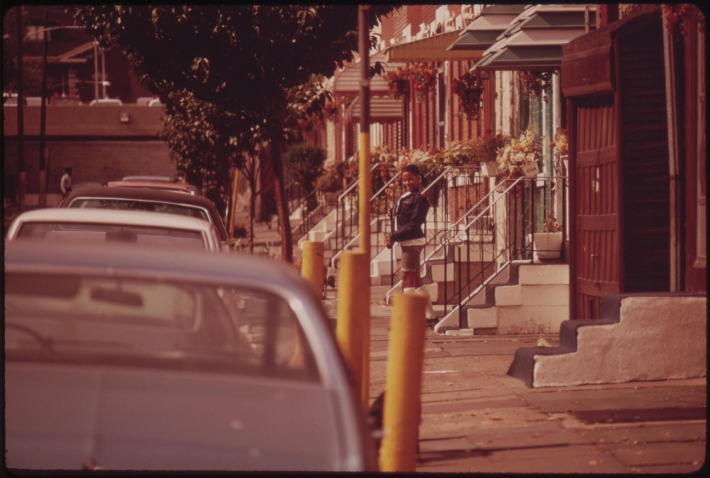 Middle Class Row House In Black Neighborhood Of North Philadelphia, August 1973