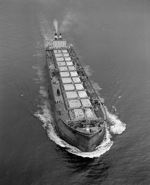 'Naess Crusader' on sea trials