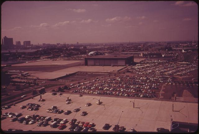 Parking Fields at Logan Airport