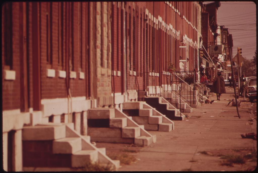 Row Houses In North Philadelphia, August 1973