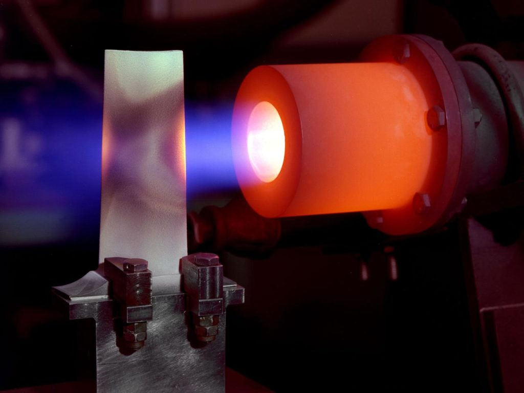 Stator Blade with Thermal Barrier Testing on Hot Gas Rig