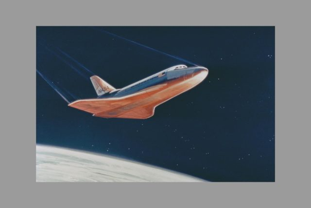Space Shuttle re-entry art ARC-1975-AC75-1919