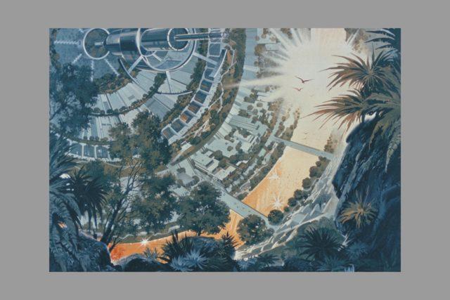 Artwork Space Colonization - Bernal sphere ARC-1975-AC75-1924
