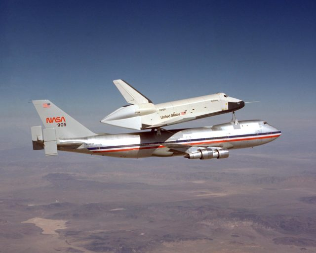 First Shuttle/747 Captive Flight EC77-6887