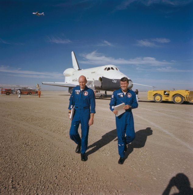"Third (3rd) ""Free Flight"" - Shuttle Orbiter 101 Spacecraft - Dryden Flight Research Center (DFRC), Edwards AFB (EAFB), CA"