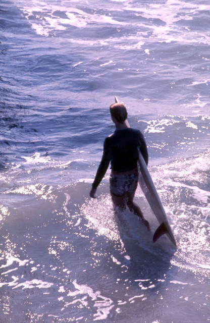 Surfer at Cocoa Beach Florida