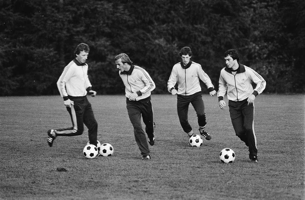 Training Nederlands elftal in verband met interland