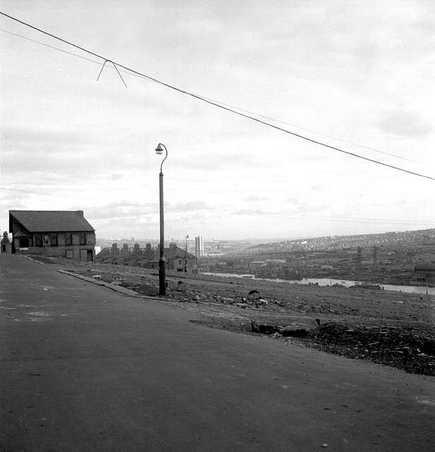 Demolished street by the River Tyne