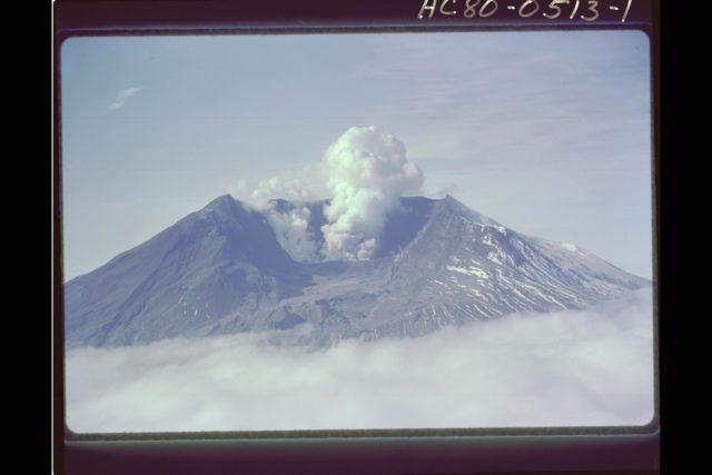 Mt. St. Helens Volcano - post eruption ARC-1980-AC80-0513-1