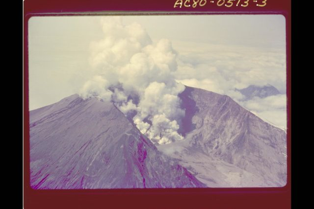 Mt. St. Helens Volcano - post eruption ARC-1980-AC80-0513-3