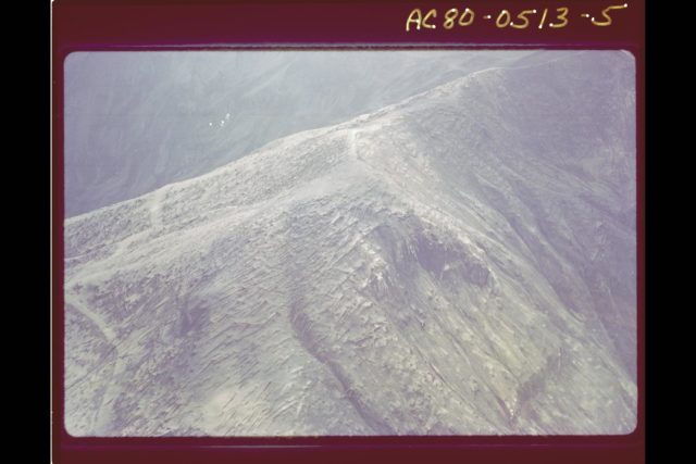 Mt. St. Helens Volcano - post eruption, forest damage ARC-1980-AC80-0513-5