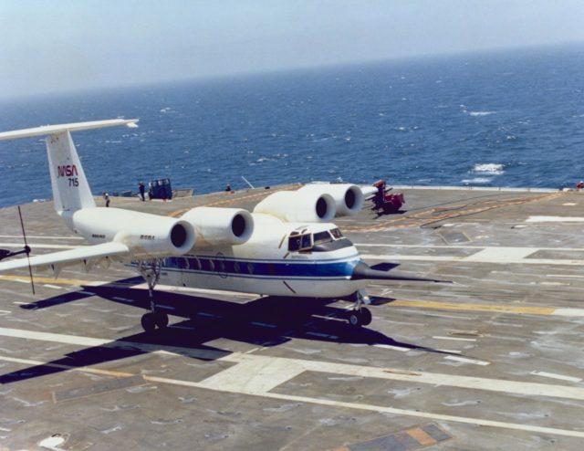 QSRA (NASA-715) takeoff and landing trials onboard the USS Kitty Hawk ARC-1980-AC80-0641-1