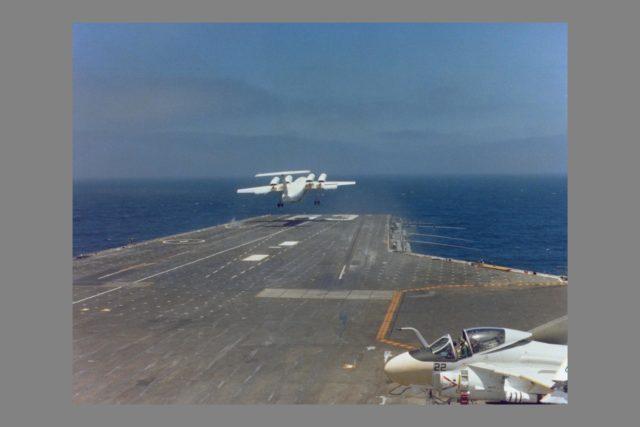 QSRA (NASA-715) takeoff and landing trials onboard the USS Kitty Hawk ARC-1980-AC80-0641-4