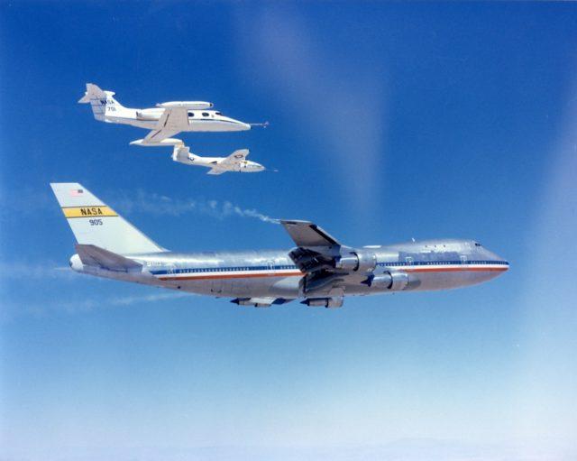 Boeing 747-123 NASA 905 wake vortex studies [NASA via RJF]