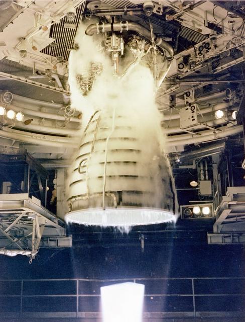 Space Shuttle Main Engine (SSME) Test Firing