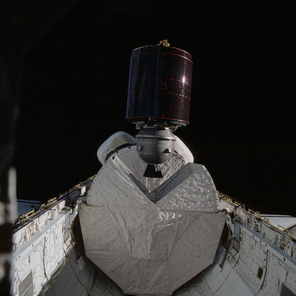 Satellite deployment during STS-5