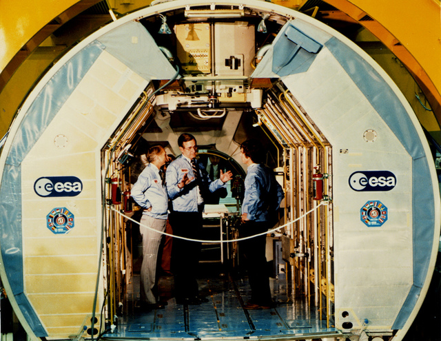 Vice President Bush with Spacelab Astronauts