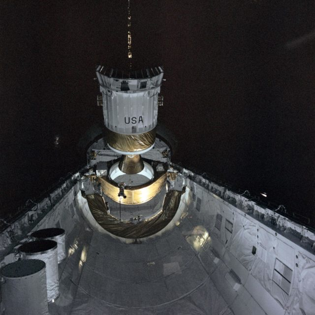 Deployment of the TDRS by STS-6 Challenger
