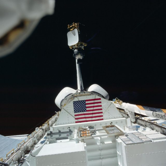 View of the INSAT/PAM-D being deployed