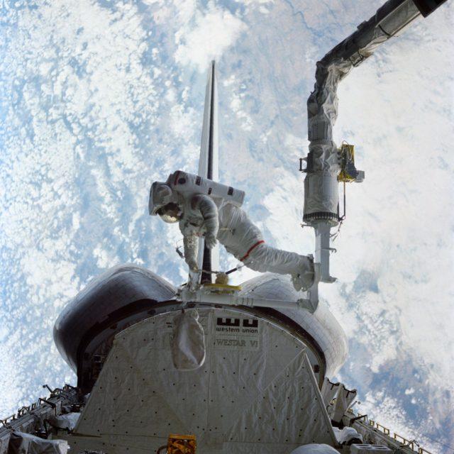 View of Astronaut Bruc McCandless during EVA