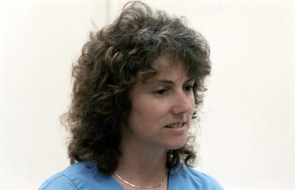 Teacher in Space Christa McAuliffe talks to the media - PICRYL Public  Domain Image