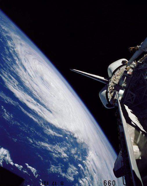 Hurricane Josephine seen by the shuttle orbiter Challenger