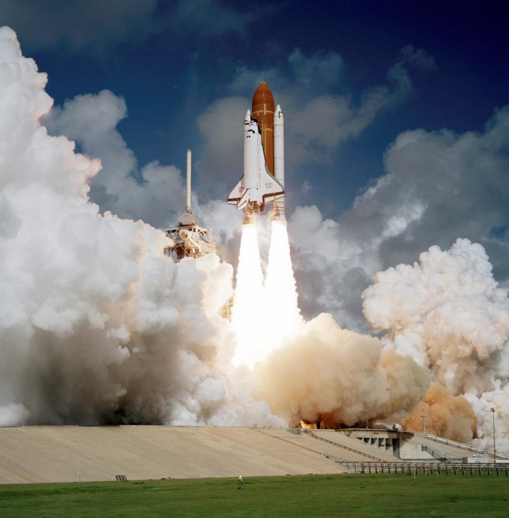 Liftoff of first flight of Atlantis and the STS 51-J mission