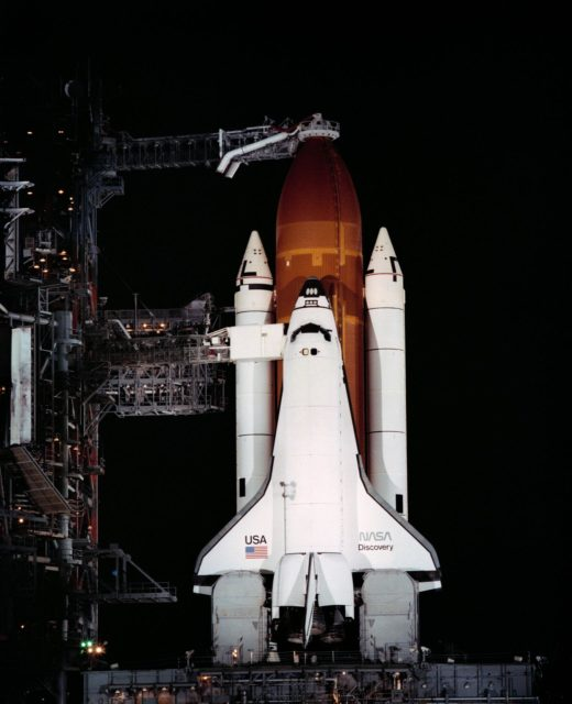 Rollout - Shuttle Discovery - STS 41D Launch - KSC