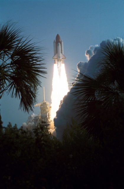 STS-28 Columbia, OV-102, lifts off from KSC Launch Complex Pad 39B