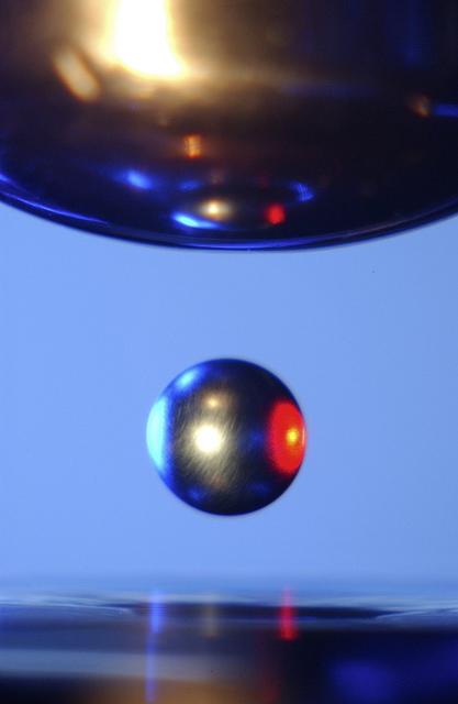 Titanium-Zirconium-Nickel Alloy Inside Marshall's Electrostatic Levitator
