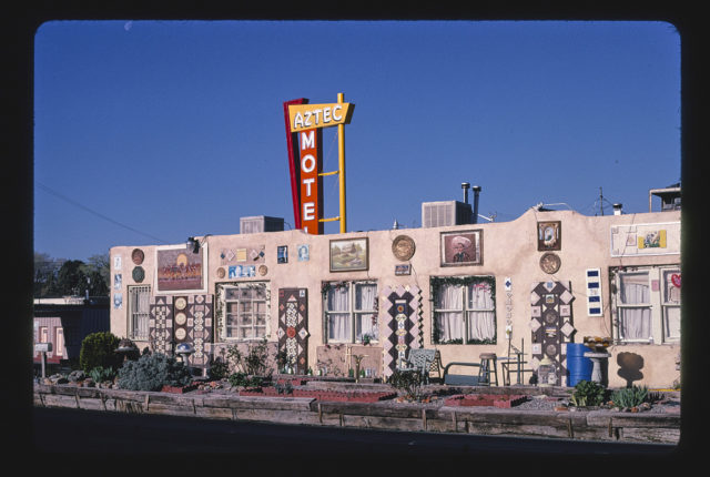 Aztec Motel, diagonal view 2, Route 66, Albuquerque, New Mexico (LOC)