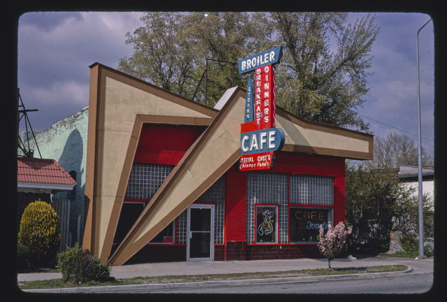 Broiler Cafe, horizontal view, N. Temple Street, Salt Lake City, Utah (LOC)