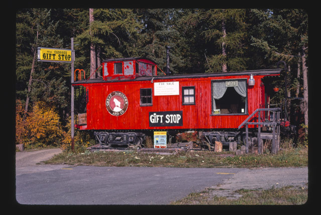 Caboose and Loose Caboose Gift Shop, Route 93, Whitefish, Montana (LOC)