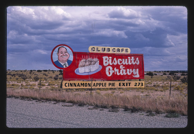 Club Cafe sign near Santa Rosa, Santa Rosa, New Mexico (LOC)