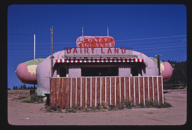 Coney Island Dairyland, end detail, Route 285, Aspen Park, Colorado (LOC)