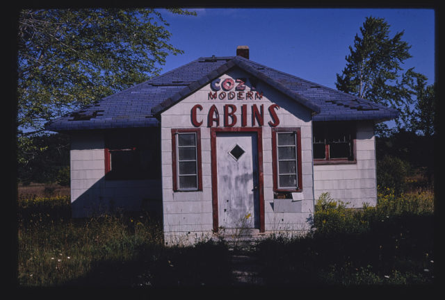 Cozy Modern Cabins office, Manistique, Michigan (LOC)
