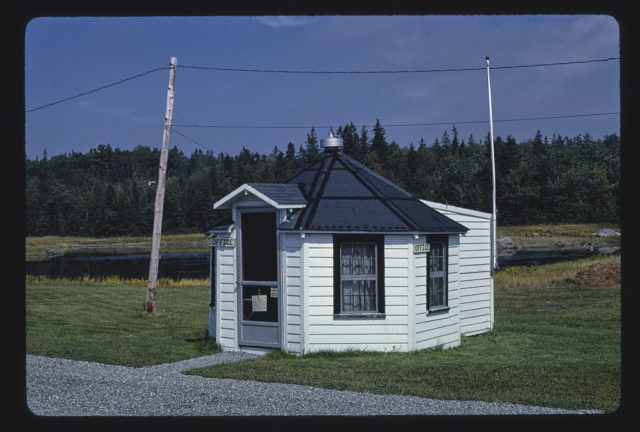 Cozy Northern Lights Motor Court office, Route 3, Bar Harbor, Maine (LOC)